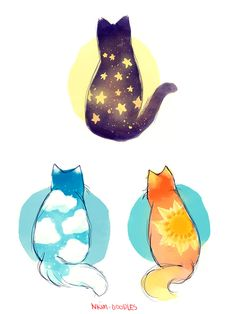 My cat master post! Of all of my popular cat doodles to sort of end this year. Kawaii Doodles, Cute Kawaii Drawings, Cute Animal Drawings, Cat Doodle, Doodle Art, Dibujos Cute, Kawaii Cat, Cute Cartoon Wallpapers, Cat Drawing