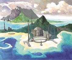 Le scannage et la mise en page de l'artbook a déjà commencé, un nouvel aperçu avec cette recherche de décors pour le pays de Jade (2006), le Royaume Invisible où vivent les anciens… &nb…