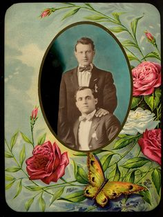Two men in suits with bowties from George Eastman House via The Commons at Flickr
