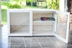 old furniture into a rabbit hutch - Google Search