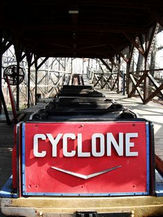 Cyclone roller coaster – that of Palisades Amusement Park in Bergen County, NJ, which closed its doors in 1971 – but were recycled for use in Williams Grove Park, as indeed were other rides.