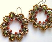 Fall Colors Wire Wrapped Earrings