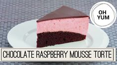 Chocolate Raspberry Mousse Torte | Oh Yum with Anna Olson - YouTube Chocolate cake Mousse
