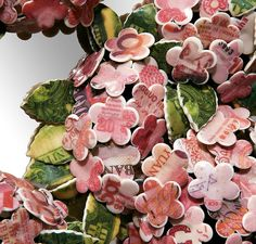 barnaby barford: avarice money petal porcelain installation