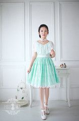 vintage style lace prom party dress