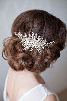 Hair Comb Wedding, Wedding Hair Pieces, Bridal Hair, Pearl Bridal, Bride Hair Accessories, Rose Gold Hair, Hair Beads, Bridal Headpieces, Hair Jewelry