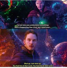 Lol. 'You had me at Star-Lord' (btw is this real or fake? Like am I pinning an unintentional spoiler???)