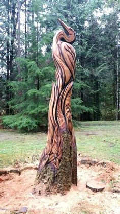 Chainsaw Wood Carving, Wood Carving Art, Wood Carvings, Tree Artwork, Tree Carving, Wood Carving Patterns, Art Carved, Tree Sculpture, Metal Tree