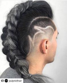 Smokey Gray Mohawk by @jaywesleyolson , @gbarber09 , & @hair.by.ashh #pulpriothair #undercut #grayhair