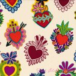 Alexander Henry Folklorico Corazones Primavera Spice [AH-DE7807-B] - $10.95 : Pink Chalk Fabrics is your online source for modern quilting cottons and sewing patterns., Cloth, Pattern + Tool for Modern Sewists