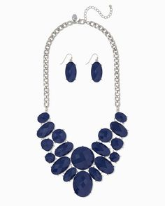charming charlie | Annabella Bib Necklace Set | UPC: 400000175126 #charmingcharlie