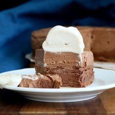 Triple Layer Chocolate Mousse Cake. Glutenfree Vegan Recipe.