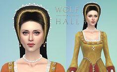 Claire Foy as Anne Boleyn sim edited version | Hi Tudor fans… | Flickr Tudor Dress, Wolf Hall, Anne Boleyn, Sims 4, Claire, Fans