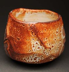 Lisa Hammond Ceramics ( British: 1956)  - Red Shino Chawan