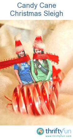 This guide is about making a candy cane sleigh. A simple craft for the holidays can be made with candy canes.