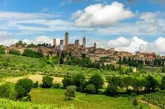 San Gimignano, Toskana, İtalya