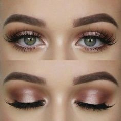 gorgeous pink champagne eyeshadow look