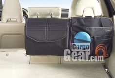 This High Road ZipFit car organizer is composed of 3 sections that are zippered together. The left panel has a mesh pocket. The center panel has a compartment with a lid. The right panel has a large deep pocket, 2 smaller pockets and 2 mesh pockets. You have connect all three panels together, or connect the center panel to the left or right panel, or connect the left and right panels, or use each panel separately.