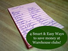 4 Smart and Easy Ways to Save Money at Warehouse Clubs!