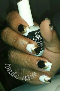 #OPI odorless acrylic with #IBD freehand gel designs