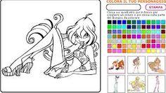 Risultati immagini per winx da colorare on line