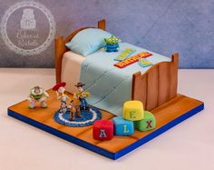 Toy Story Bed Cake - toppers customer supplied - www.facebook.com/Cakes.at.Rachels