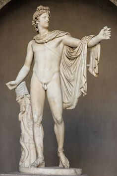 Apollo Belvedere ancient Roman sculpture in the Vatican.