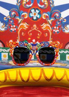 81f4d25da0e Women s Sunglasses   The colours and prints of the Sicilian Carts become  fun accessories