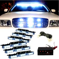57.00$ Buy here - http://alidu5.worldwells.pw/go.php?t=1530254653 - RED WHITE BLUE AMBER New Car Auto LED strobe Light Blink Flash Lights/Light bars for Deck Dash Grille