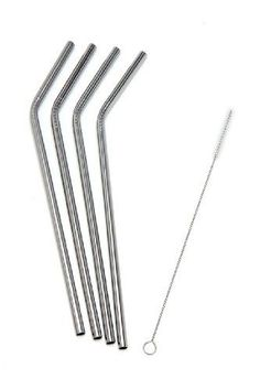 Epica Stainless Steel Drinking Straws with Cleaning Brush, an eco-friendly drinking straw solution. Bestseller on Amazon.com #AmazonPrime