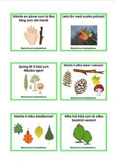 Uppdragskort-Skogen/matematik Outdoor Activities For Kids, Math For Kids, Science For Kids, Science And Nature, Crafts For Kids, Learn Swedish, Swedish Language, Classroom Birthday, Preschool Science