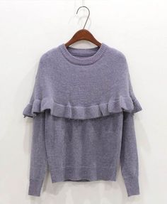 Agaric Edge Caped Pullover - Knit Tops - Pullover - Knitwear - Tops - Clothing