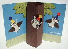Cute Pop Up Owl card! Simple and fun DIY