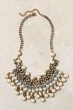 #engagementparty Anthropologie Spiked Beads Bib Necklace. $48. An Elegant Alternative to the Ever-Trendy Bib Necklace. @Anthropologie .