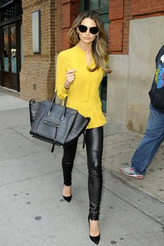 Check out our girl Lily Aldridge rocking Graham & Spencer stretch leather leggings while out and about this week.
