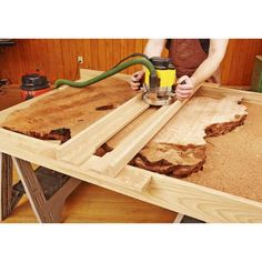 "How to Work With Natural-Edge Slabs — Let Mother Nature be your co-designer as you build dazzling projects with wavy edges, bristly burrs, bark inclusions, and other ""flaws"" that give wood a look of unrefined beautify. http://www.woodstore.net/howtowowinas.html"