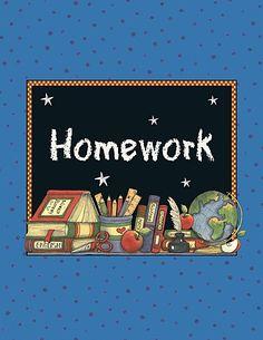 Homework Pocket Folder from Susan Winget