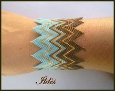 bracelet zigzag choco turquoise 3