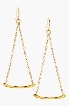 gorjana 'Taner' Hammered Bar Drop Earrings available at #Nordstrom