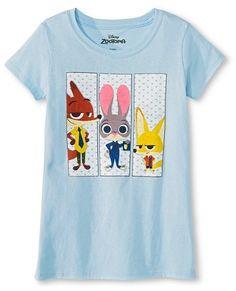 Girls' Zootopia T-Shirt - Light Blue ($8.99)