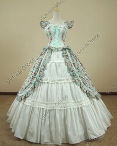 Victorian Gothic Lolita Cotton Dress Ball Gown Prom Reenactment Clothing 085 M | eBay