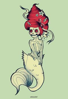 So cute, only I wouldn't keep her as a mermaid but would put a frilly, puffy dress instead