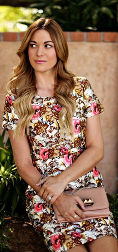 #floral #dress by A Little Dash Of Darling would look great with boots!
