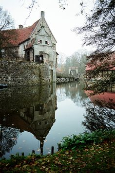 Beautiful reflection. Burg Vischering, Lüdinghausen, Germany (1) From: Lost In The Renaissance, please visit