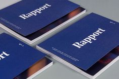 Rapport Magazine - doing it right with navy blue