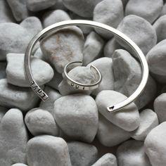 "Damenarmreif mit Ring ""Slim Edition"" aus Silber 925."