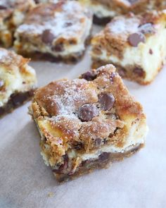 Chocolate Chip Cookie rutor | erikasfikastund Baking Recipes, Dessert Recipes, Desserts, Danish Dessert, Something Sweet, Dessert Bars, Cake Cookies, Cookie Dough, Chocolate Chip Cookies