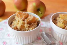 A delicious breakfast - hot apples with cinnamon and quinoa