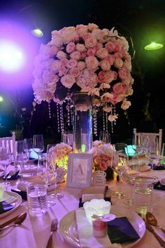 The beautiful flower centerpiece — at Bvlgari Hotels and Resorts Bali. Wedding Reception Centerpieces, Wedding Decorations, Wedding Ideas, Decor Wedding, Table Decorations, Reception Ideas, Bali Wedding, Floral Wedding, Wedding Flowers