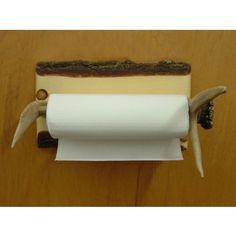 Horizontal Antler Paper Towel Holder | Cabin & Hunting Decor | Antler Decor